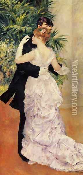 City Dance Oil Painting - Pierre Auguste Renoir