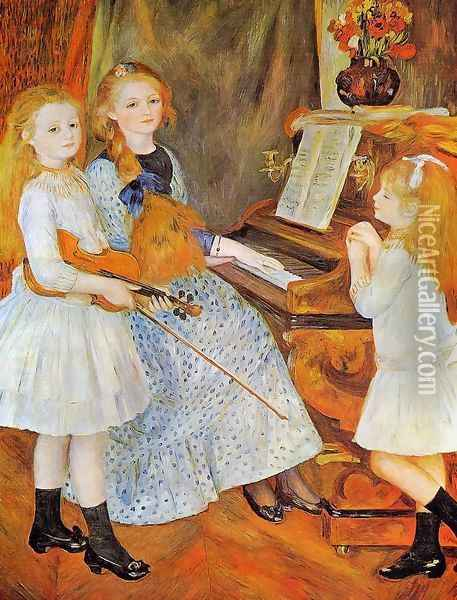 The Daughters Of Catulle Mendes Oil Painting - Pierre Auguste Renoir