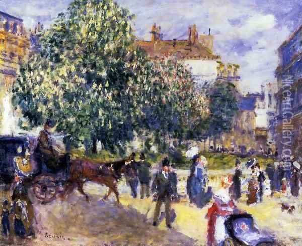 Place De La Trinite Paris 2 Oil Painting - Pierre Auguste Renoir