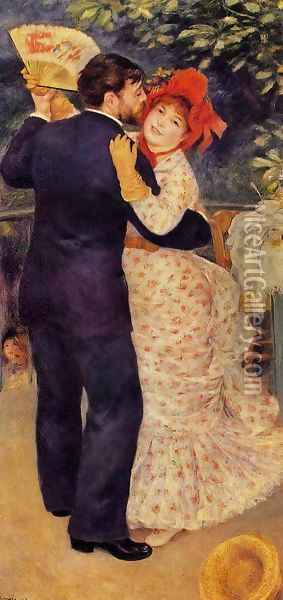 Country Dance Oil Painting - Pierre Auguste Renoir