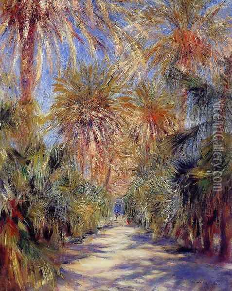 Algiers The Garden Of Essai Oil Painting - Pierre Auguste Renoir