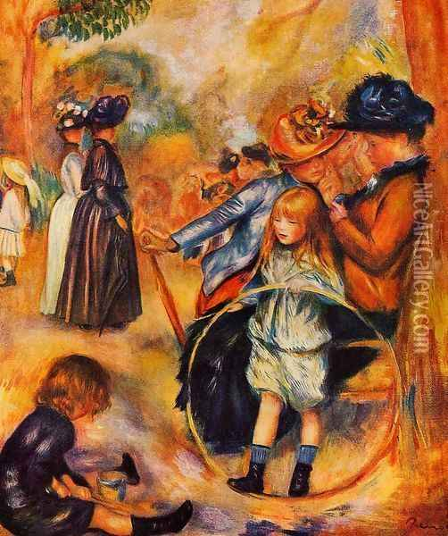 At The Luxembourg Gardens Oil Painting - Pierre Auguste Renoir
