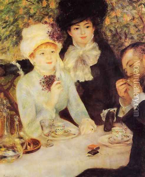 The End Of Lunch Oil Painting - Pierre Auguste Renoir