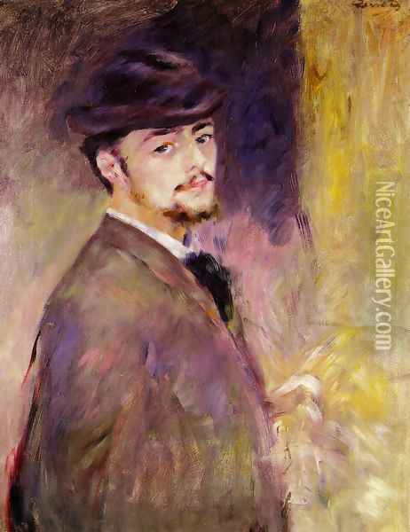 Self Portrait At The Age Of Thirty Five Oil Painting - Pierre Auguste Renoir