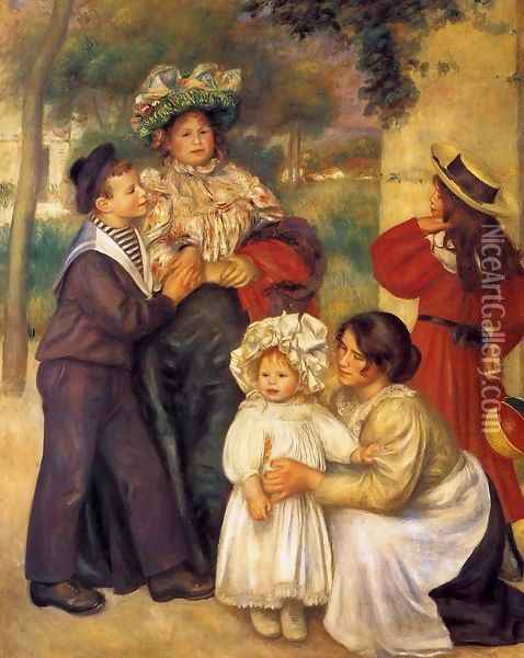 The Artists Family Oil Painting - Pierre Auguste Renoir