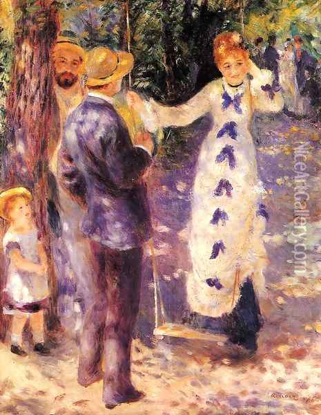 The Swing2 Oil Painting - Pierre Auguste Renoir
