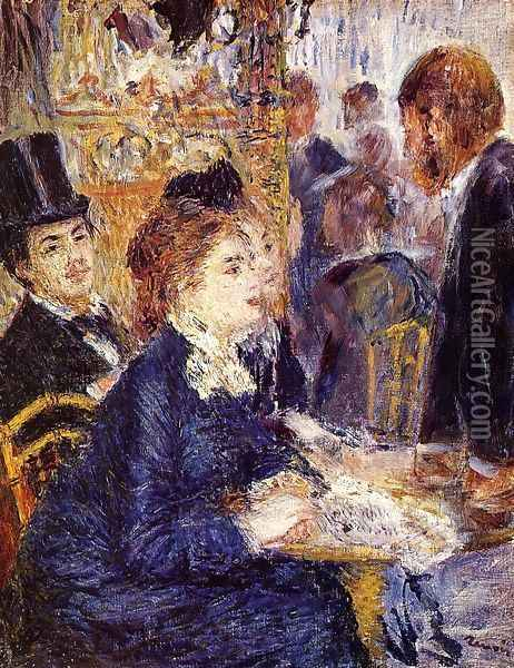 The Cafe Oil Painting - Pierre Auguste Renoir