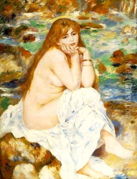 Seated Bather 6 Oil Painting - Pierre Auguste Renoir