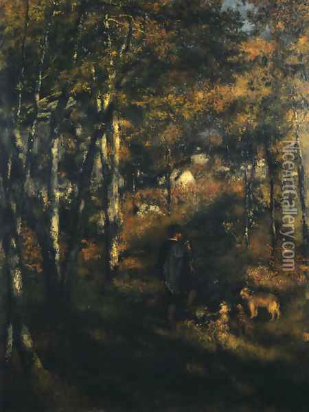 Jules Le Coeur in the Forest of Fontainebleau Oil Painting - Pierre Auguste Renoir
