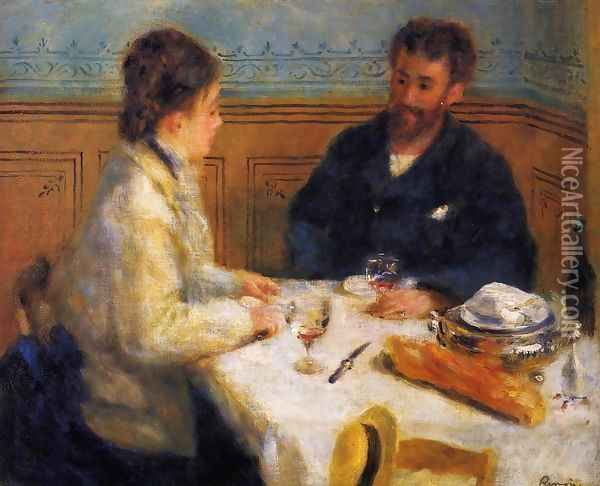 The Luncheon Oil Painting - Pierre Auguste Renoir