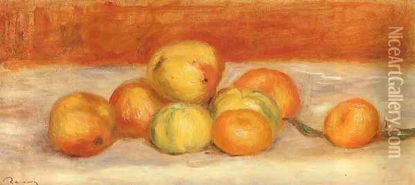 Apples And Manderines Oil Painting - Pierre Auguste Renoir