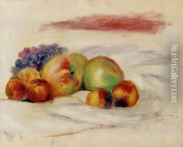 Apples And Grapes Oil Painting - Pierre Auguste Renoir