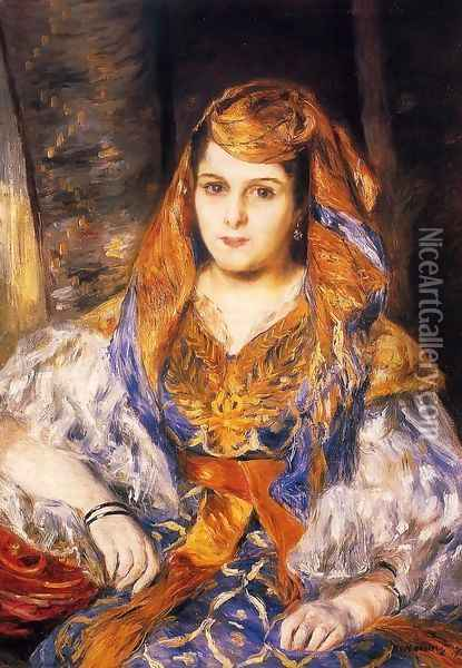 Madame Stora In Algerian Dress Oil Painting - Pierre Auguste Renoir