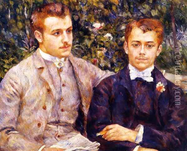 Charles And Georges Durand Ruel Oil Painting - Pierre Auguste Renoir