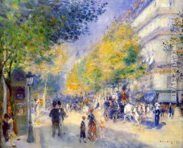 The Great Boulevards Oil Painting - Pierre Auguste Renoir