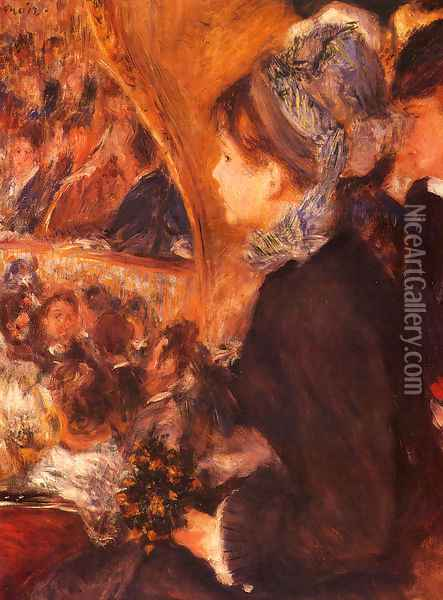 At The Theatre Oil Painting - Pierre Auguste Renoir