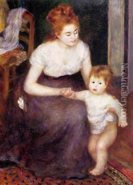 The First Step Oil Painting - Pierre Auguste Renoir