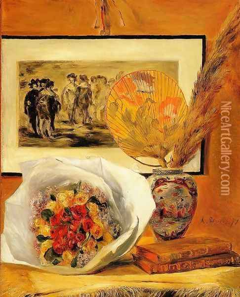 Still Life With Bouquet Oil Painting - Pierre Auguste Renoir