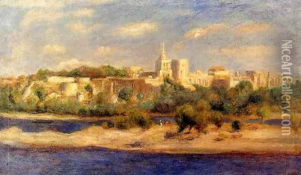Bathers On The Banks Of The Thone In Avignon Oil Painting - Pierre Auguste Renoir