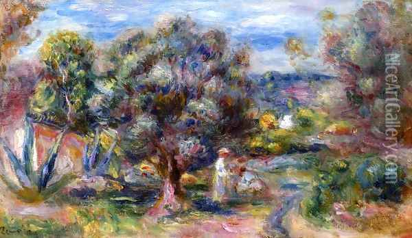 Aloe, Picking at Cagnes Oil Painting - Pierre Auguste Renoir