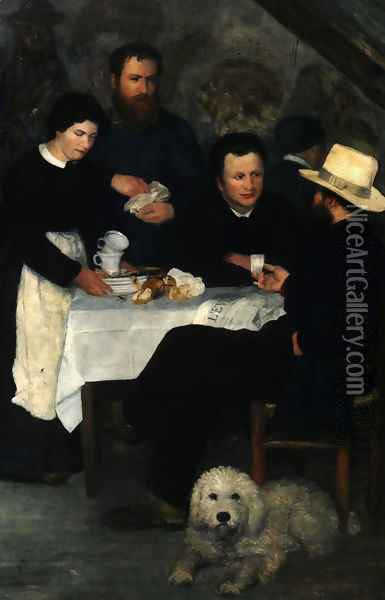 Mother Anthony's Inn at Marlotte Oil Painting - Pierre Auguste Renoir