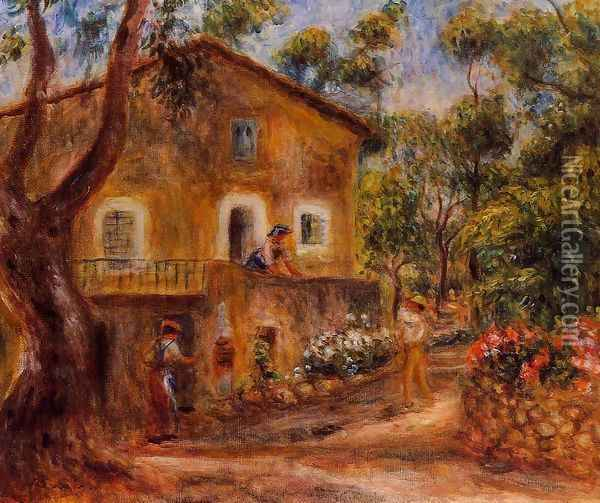 House In Collett At Cagnes Oil Painting - Pierre Auguste Renoir