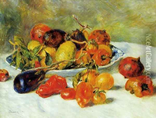 Fruits from the Midi Oil Painting - Pierre Auguste Renoir