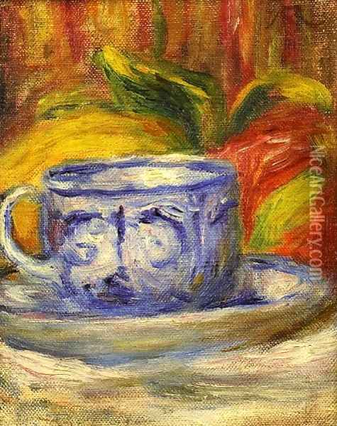 Cup And Fruit Oil Painting - Pierre Auguste Renoir