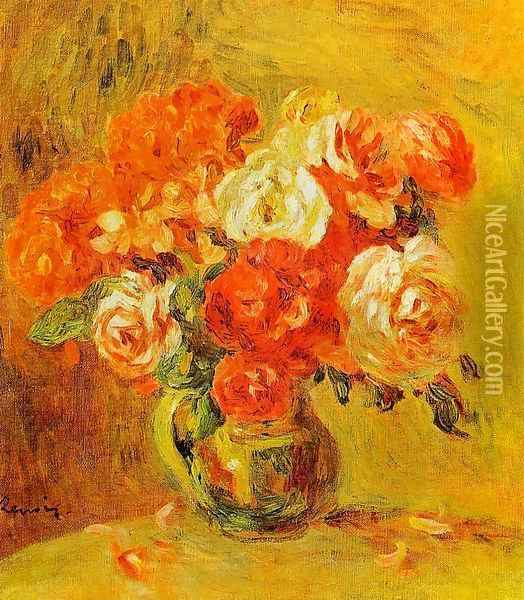 Flowers In A Vase4 Oil Painting - Pierre Auguste Renoir
