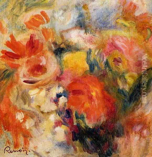 Flower Study Oil Painting - Pierre Auguste Renoir