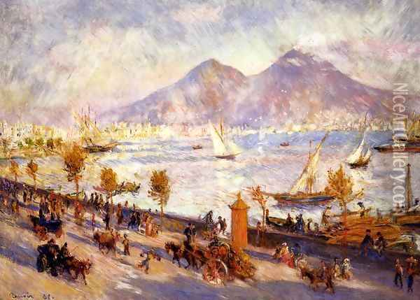 Mount Vesuvius In The Morning Oil Painting - Pierre Auguste Renoir