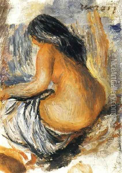 Bather From The Back Oil Painting - Pierre Auguste Renoir