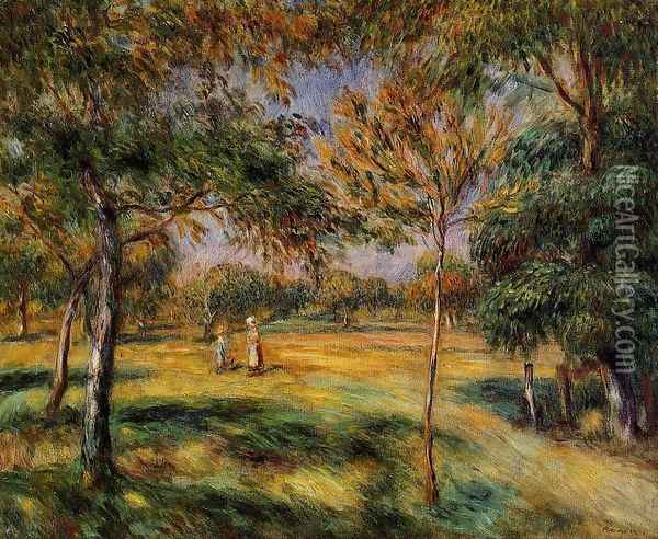 Clearing Oil Painting - Pierre Auguste Renoir
