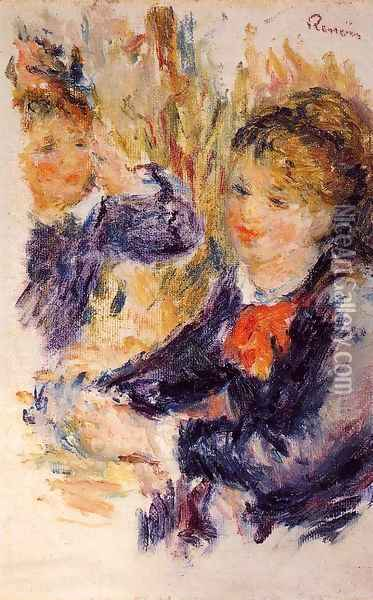 At The Milliners (study) Oil Painting - Pierre Auguste Renoir