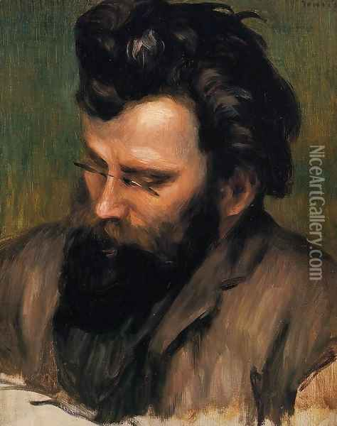 Portrait Of Charles Terrasse Oil Painting - Pierre Auguste Renoir