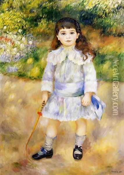 Child With A Whip Oil Painting - Pierre Auguste Renoir