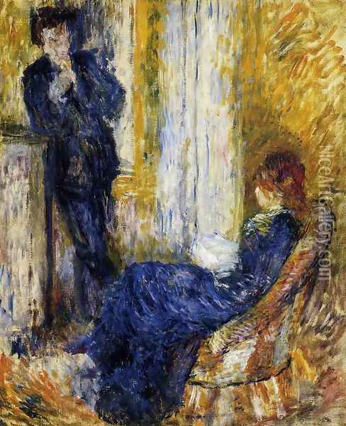 By The Fireside Oil Painting - Pierre Auguste Renoir
