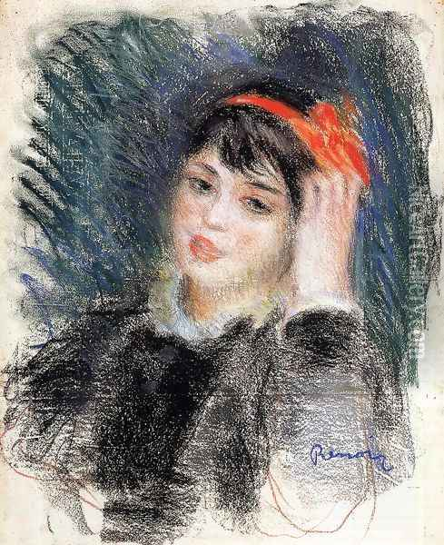 Head Of A Young Woman 8 Oil Painting - Pierre Auguste Renoir