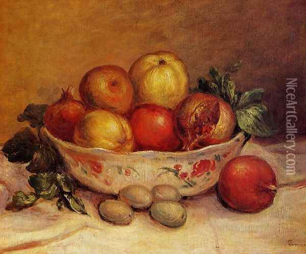Still Life With Pomegranates Oil Painting - Pierre Auguste Renoir