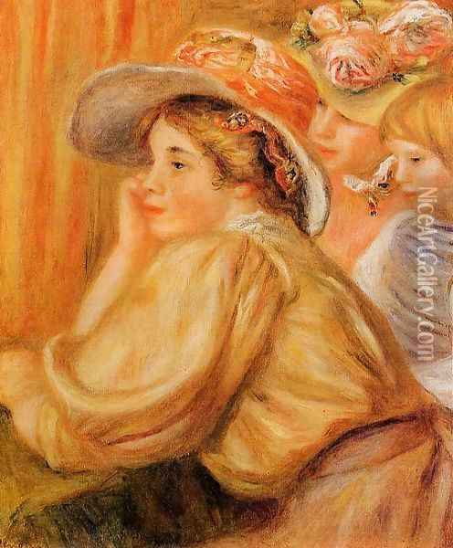 Coco And Two Servants Oil Painting - Pierre Auguste Renoir