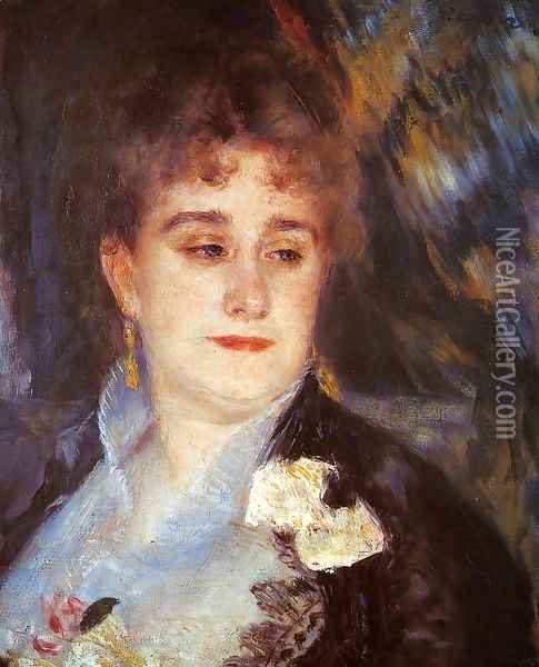 First Portrait Of Madame Georges Charpeitier Oil Painting - Pierre Auguste Renoir