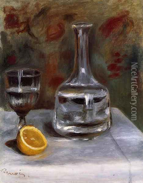 Still Life With Carafe Oil Painting - Pierre Auguste Renoir