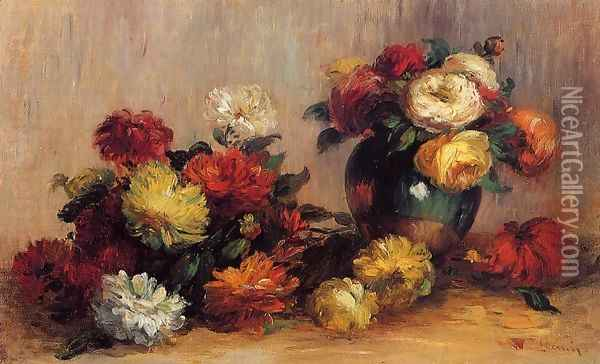 Sprays Of Flowers Oil Painting - Pierre Auguste Renoir