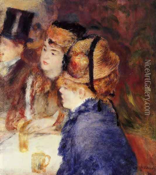 At The Cafe Oil Painting - Pierre Auguste Renoir