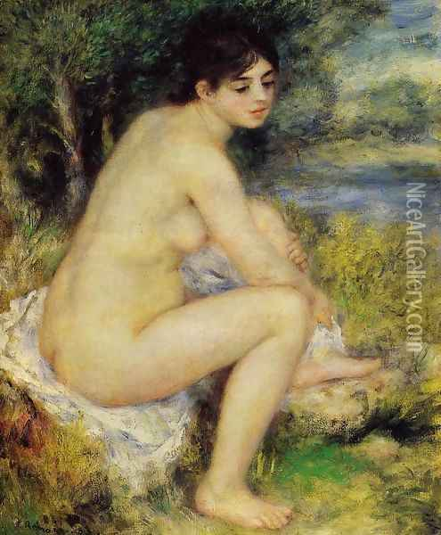 Seated Bather4 Oil Painting - Pierre Auguste Renoir
