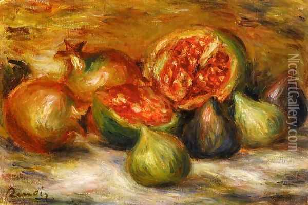 Still Life With Figs Oil Painting - Pierre Auguste Renoir