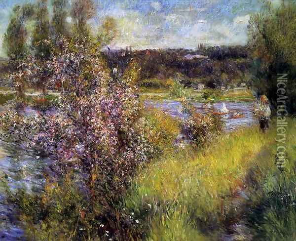 The Seine At Chatou Oil Painting - Pierre Auguste Renoir