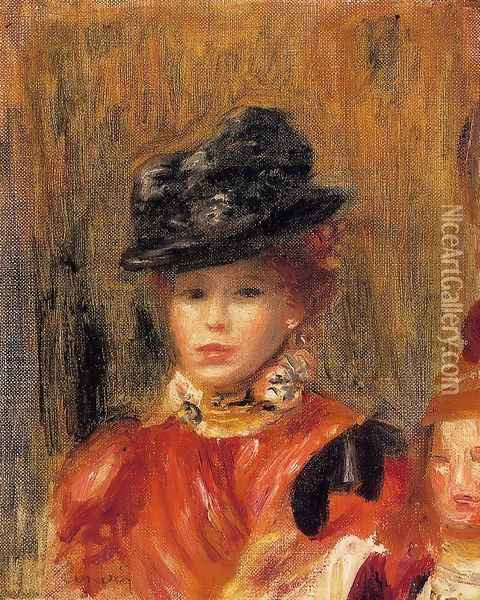 Madame Le Brun And Her Daughter Oil Painting - Pierre Auguste Renoir