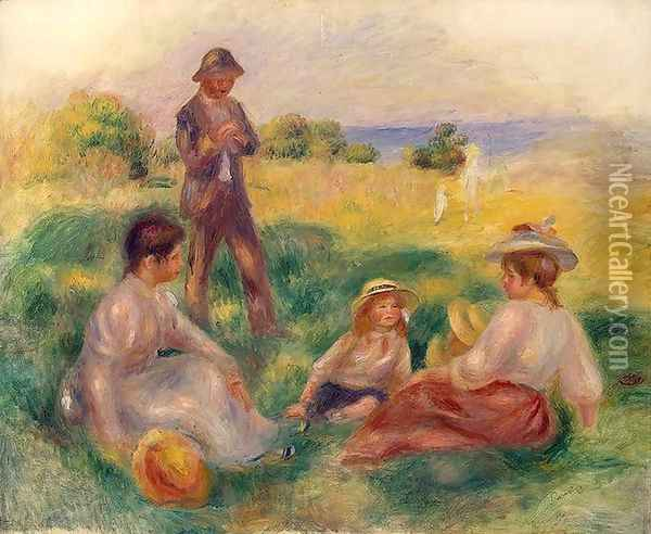 Party In The Country At Berneval Oil Painting - Pierre Auguste Renoir