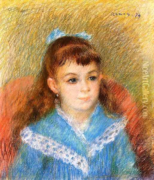Portrait Of A Young Girl Aka Elizabeth Maitre Oil Painting - Pierre Auguste Renoir
